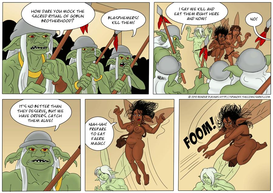 The sacred ritual of Goblin brotherhood